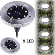 LED Light Landscape Solar Powered In-ground Light Outdoor Pathway Garden Lamp US