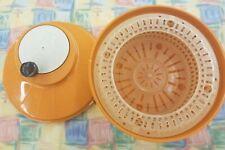 Vintage VTG Moulinex Salad centrifuge Spinner Orange Handle Chipped Free Ship