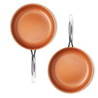 "Gotham Steel 2 PACK Super Nonstick Copper 9.5"" Frying Pan - New, Free Ship"