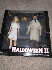 "NECA Halloween II 2 Laurie Strode & Dr. Loomis 8"" Cloth Retro Figure READ!"