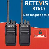 Retevis Two Way Radio walkie talkie RT617 0.5W PMR446 16CH CTCSS/DCS TOT VOX