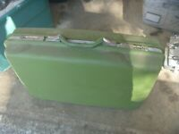 "Vintage SAMSONITE Montebello II Green 24"" Hard Case Luggage Suitcase w/ Key"