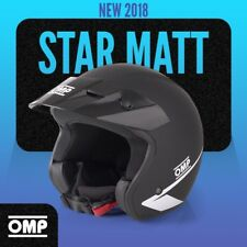 NEW 2018 Open Helmet OMP STAR BLACK MATT M 57 58cm Rally Race LIMITED EDITION