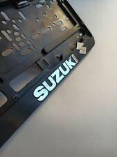 "Black EURO LICENSE PLATE TAG HOLDER MOUNT ADAPTER BUMPER FRAME BRACKET ""Suzuki"""