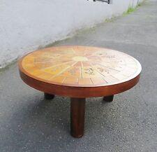 Table basse en céramique de Vallauris signée R LEDUC