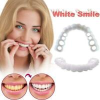 Perfect Smile Fake Teeth In Instant Comfort Adjustment Flex Cover Denture G3P8