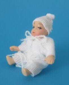 Puppenhaus 2 Swaddled Baby Miniatur 1:12 Maßstab Menschen Baby IN Decke