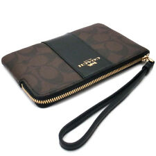 New Coach F58032 F58035 Corner Zip Wristlet With Gift Box New With Tags