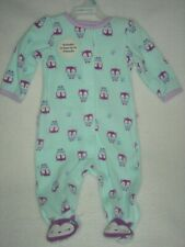 Child Of Mine By Carter's Baby Girl Purple & Blue Owl Fleece Sleeper Footed