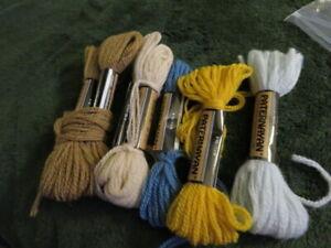 5 skiens Paternayan Persian wool yarn - assorted colors