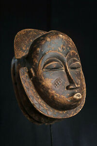 Fang Style Ngontang Face Mask, Central Gabon, Tribal Art, Equatorial African Art