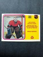 1982 O Pee Chee NHL Shutout Leader  #241 Denis Herron Montreal Canadiens 1981-82