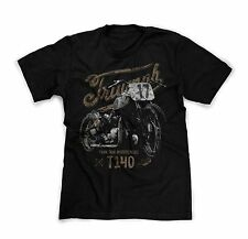 Iron Jaw Motorcycles Triumph T140 bobber custom t-shirt Vintage worn style