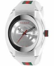 New Gucci Ya137102 Sync Xxl White Rubber Band White Dial Unisex Watch