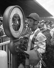 1955 Champion Jockey EDDIE ARCARO Glossy 8x10 Photo Print Horse Racing Poster