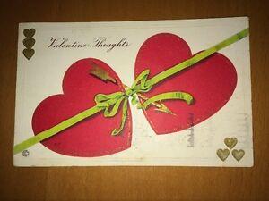 USA. Deux Cartes Postales Fantaisie Etats-Unis, Début XXeme.Valentine.