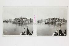 Cannes Plaque verre stéréo Vintage Positif 6x13cm