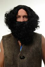 Wig Beard Full Beard Set Black Taliban Hermit Suede Prophet Moses Pirate