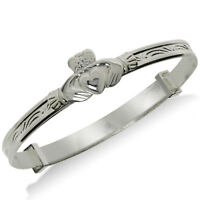 STERLING SILVER BABY BANGLE EXPANDABLE ID BRACELET CHRISTENING FREE ENGRAVING
