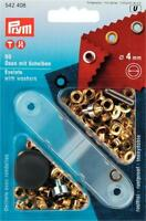 Prym 50 4mm Gold eyelets with washers and fixing tool Leather Craft 542408