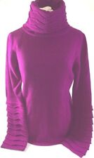 Temperley Turtleneck Jumper Magenta Purple Size Large Wave Thick Knit £350