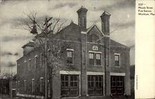 Waltham MA Moody St. Fire Station c1905 Postcard