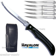 Havalon Knives Baracuta Z Folding Pocket Knife Black Game + Blades SHARP 127Z