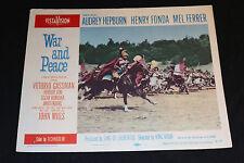 1956 War and Peace Lobby Card 56-152 #1 Audrey Hepburn Henry Fonda (C-6)
