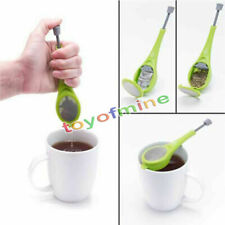 Healthy Silicone Tea Infuser Swirl Steep Stir Strainers Filters Loose Press Tool