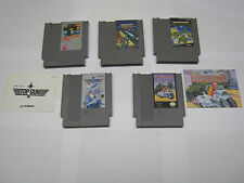 NES Nintendo cartridge lot (5), TMNT, Bionic Commando, Thundercade, etc.,TESTED!
