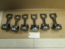 BMW 2.5L M52TU 6cyl Piston and Connecting Rod Set of 6 2000 E46 E39 Z3