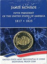 2008 S US Mint JAMES MONROE Presidential Dollar PROOF Individually Packaged