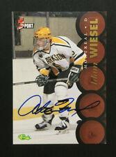 Adam Wiesel signed 1995 Classic 5 Sport Hockey card Auto Autograph