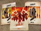 """(3)SOLO: A STAR WARS STORY Official Movie 13.5""""x20"""" PREMIERE NIGHT IMAX Posters"""
