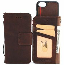 genuine leather Case for iphone 7 wallet book cover magnetic flip luxury stand