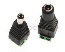 5Pairs Male + Female Plug 12V DC Power Jack Connector Adapter CCTV Camera