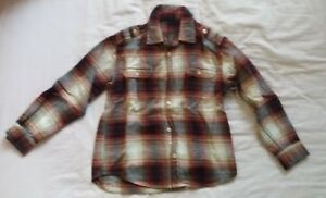 boys red mix  M&S long sleeve brushed cotton shirt age 10
