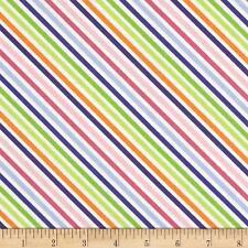 Dot Dot Dash Me & My Sister Pink purple Blue Bias stripe By the yard fabric