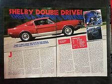 1968 Ford Shelby GT 350 Mustang - 3 Page Article - Free Shipping