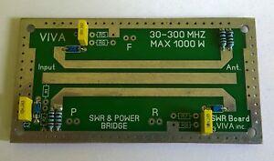 SWR Power meter RF bridge board HF VHF - 30-300 Mhz up to 1000W LDMOS TUBE