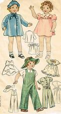 """2240 Vintage Chubby Doll Pattern - Size 18"""" - Year 1939"""