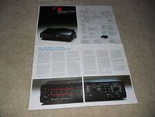 Nakamichi T-100 Audio Analyzer Broschüre, 4 Seiten, Spezifikationen, Artikel, sehr selten!