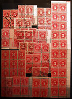 Postage Due Lot 1c-50c 1917-31 Used Blocks & Pl# Blocks