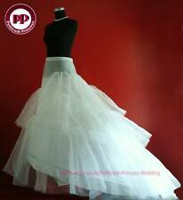Ivory Long trail Crinoline Petticoat Underskirt Wedding