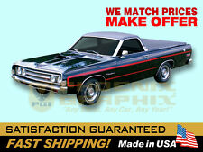 1969 Ranchero GT Non-Reflective Decals & Stripes Kit