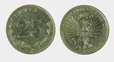 s535_19) Vittorio Emanuele III  (1901-1943) 25 Centesimi 1903 Valore Nickel