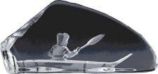 """Mats Jonasson """"Inuit In Kayak"""" Crystal Sculpture"""