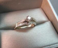 14k White Gold Diamond Wedding Engagement Ring Set 0.20 CTW Vintage 3.66g SZ 7.5