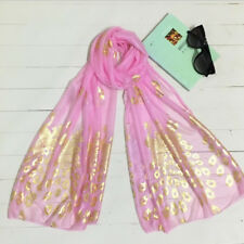 1Pc Pink Women Fashion Charm Shawl Wrap Silk Feel Chiffon Scarf Evening Wear