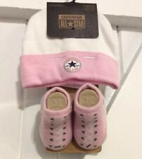 Converse All Star Baby Girl Age 0-6 Months Socks & Hat Set NEW With Tags Pink